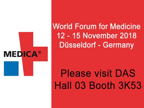 """<h5>DAS exhibits at MEDICA 2018</h5>  <p>Das exhibits at <a class=""""event_href"""" target=""""_blank"""" href=""""https://www.medica-tradefair.com"""">MEDICA</a>   from 12th to 15th of November 2018, Hall 3 stand K53, where is displayed the instrument  <a class=""""event_href"""" target=""""_blank"""" href=""""http://www.dasitaly.com/NewSite/wordpress/scheda_ap_22_if_blot_elite/"""">AP22 IF BLOT ELITE</a>  </p>"""