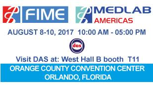 "<h5>Das exhibits at FIME 2017</h5>  <p> DAS exhibits in <a class=""event_href"" target=""_blank"" href=""https://www.medlabseries.com/en/home.html"">MEDLAB </a> at <a class=""event_href"" target=""_blank"" href=""https://www.fimeshow.com/en/MEDLAB.html"">Fime</a> in Orlando, Florida from 8th to 10th of August 2017, West Hall B booth T11, where will be displayed the <a class=""event_href"" target=""_blank"" href=""http://www.dasitaly.com/NewSite/wordpress/scheda_ap_22_if_blot_elite/"">AP 22 BLOT ELITE</a> </p>"