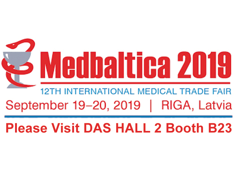 "<h5>DAS exhibits at MEDBALTICA 2019</h5>   <p>Das exhibits at <a class=""event_href"" target=""_blank"" href="" http://www.bt1.lv/medbaltica/eng/"">MEDBALTICA </a>   from 19th to 20th of September 2019, Hall 2 Booth B23</p>"