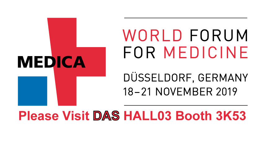 """<h5>DAS exhibits at MEDICA 2019</h5>  <p>Das exhibits at <a class=""""event_href"""" target=""""_blank"""" href=""""https://www.medica-tradefair.com"""">MEDICA</a>   from 18th to 21st of November 2019, Hall 3 stand K53, where the instrument  <a class=""""event_href"""" target=""""_blank"""" href=""""http://www.dasitaly.com/NewSite/wordpress/scheda_ap_22_if_blot_elite/"""">AP22 IF BLOT ELITE</a> is displayed</p>"""